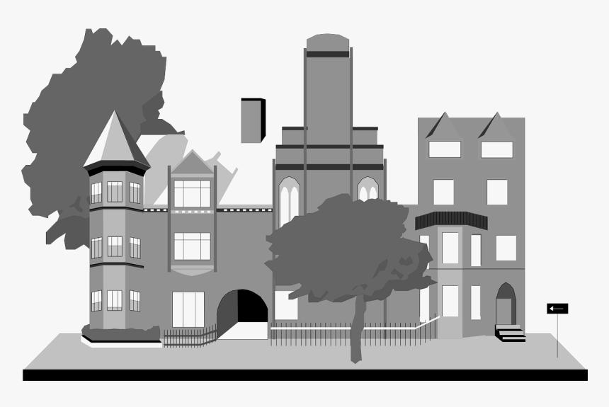 Transparent School Building Png - Cartoon Transparent Building Png, Png Download, Free Download