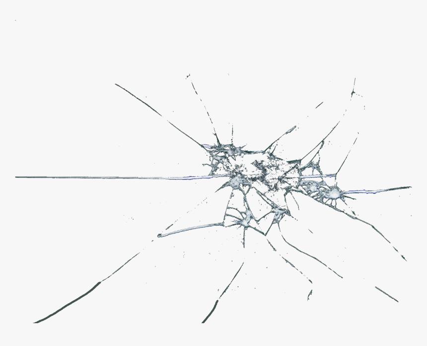 Broken Clipart Shattering Glass - Transparent Glass Crack Png, Png Download, Free Download