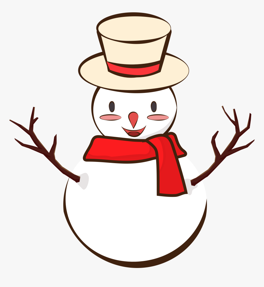 Snowman Winter Scarf Cute Png And Vector Image , Png, Transparent Png, Free Download