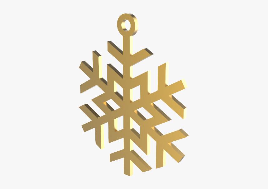 "Xmas Snow Flake Gold Decoration""  Data Original Src=""https, HD Png Download, Free Download"