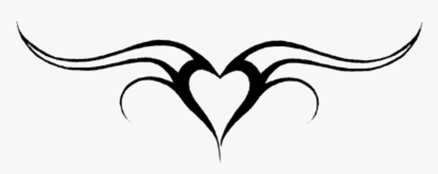 Simple Heart Design Tattoo, HD Png Download, Free Download