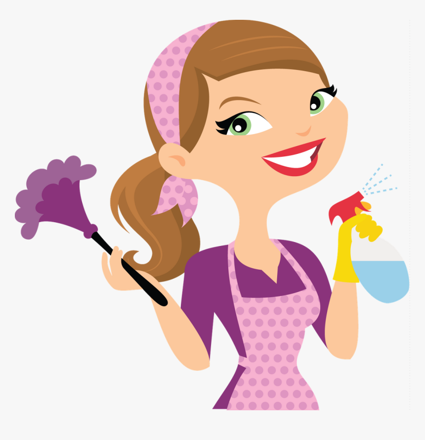 Cleaning Lady Cartoon Clipart Png Download Cleaning Services Cleaning Lady Logo Transparent Png Kindpng