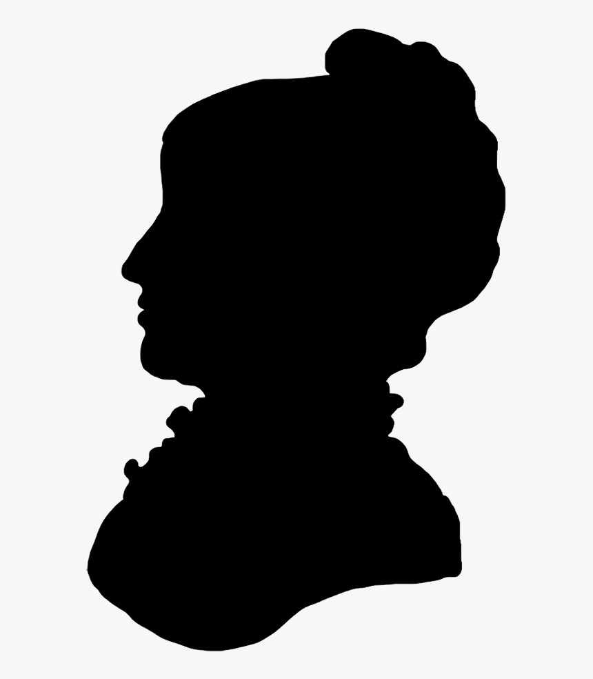 Victorian Silhouette Clipart - Victorian Female Profile Silhouette, HD Png Download, Free Download