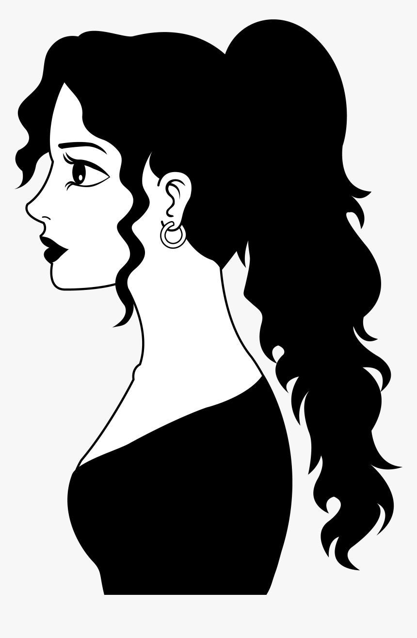 Pioneer Clipart Silhouette - Woman Clip Art Black And White, HD Png Download, Free Download