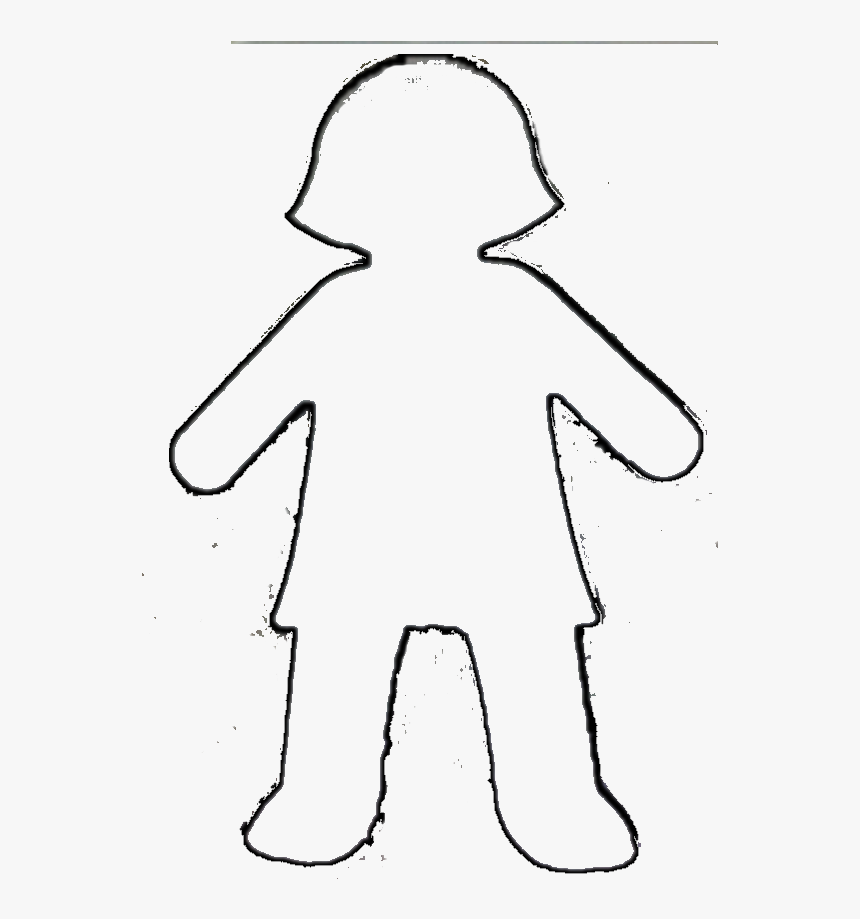 Girl Outline Clipart Black And White, HD Png Download, Free Download