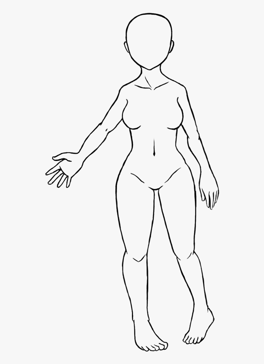 Trends For Blank Girl Face Coloring Pages Female Body Base Drawings Hd Png Download Kindpng
