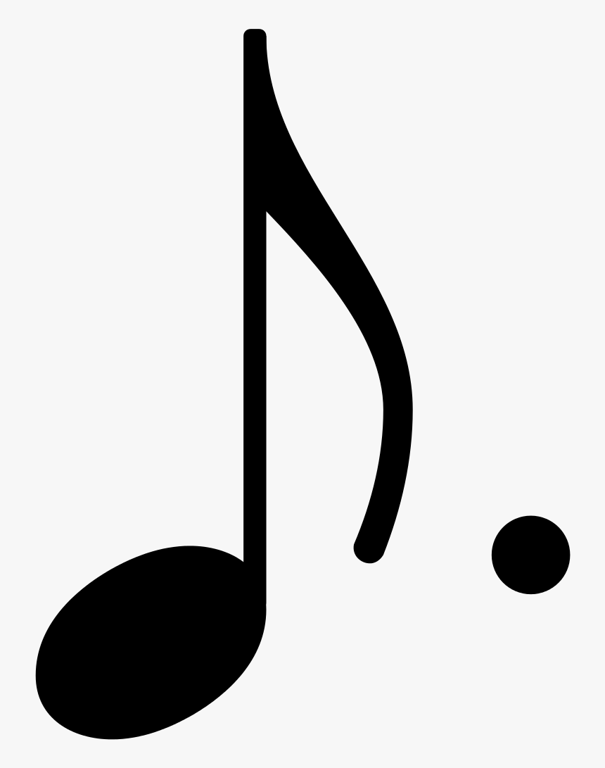 Dotted Eighth Note Symbol, HD Png Download, Free Download