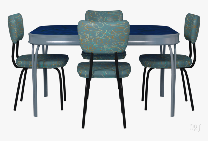 Retro Kitchen Tables Chairs Chair Hd Png Download Kindpng
