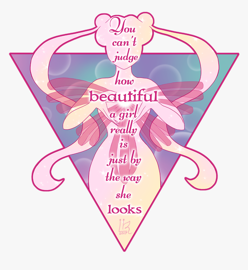 How Beautiful A Girl Really Is - Sailor Moon Inspirational Quote, HD Png Download, Free Download