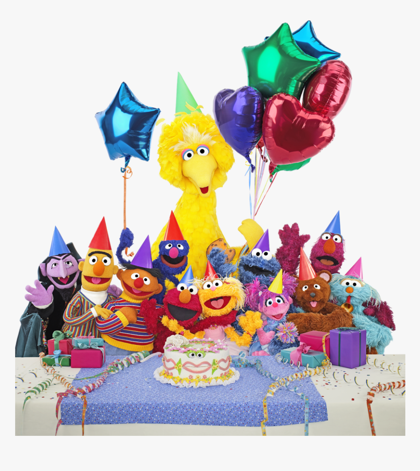 Sesame Street Characters Happy Birthday, HD Png Download, Free Download