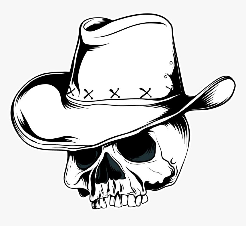 Cowboy Hat Vector Graphics Skull Clip Art - Cowboy Skull Hat Png, Transparent Png, Free Download