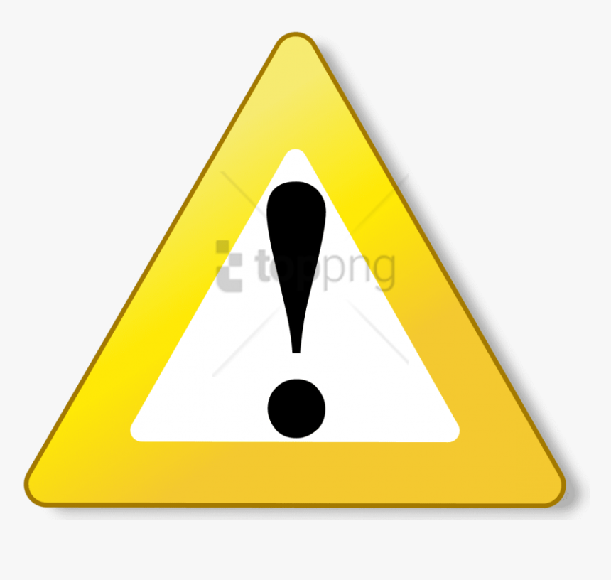 Download Free Image With - Warning, HD Png Download, Free Download
