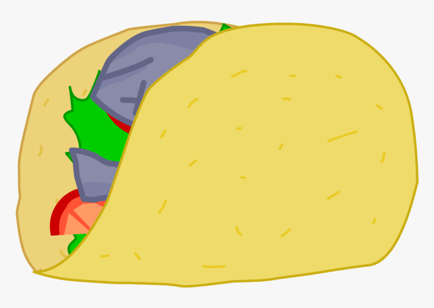 Taco Clipart Battle For Dream Island - Bfdi Taco Food, HD Png Download, Free Download