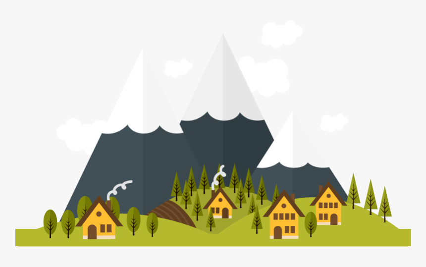 Deep In The Mountains Vector 800800 Transprent Png House And Mountain Png Transparent Png Kindpng