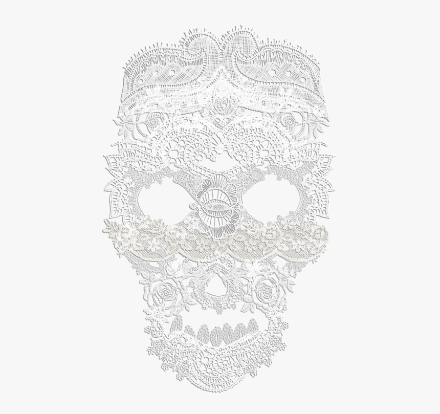 Lace Skull On Tumblr Png Lace Skull Tumblr - Skull, Transparent Png, Free Download