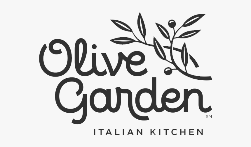 Olive Garden - Olive Garden Logo Black And White, HD Png Download, Free Download