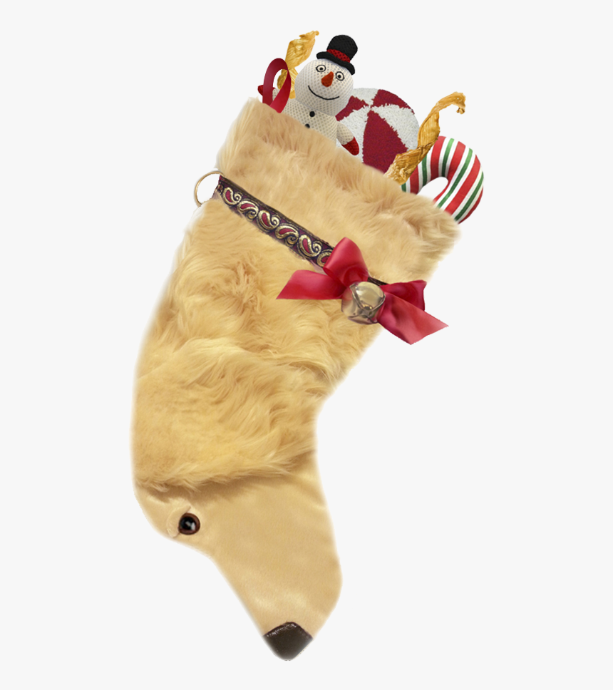 This Golden Retriever Dog Shaped Christmas Stocking - Golden Retriever Christmas Stocking, HD Png Download, Free Download