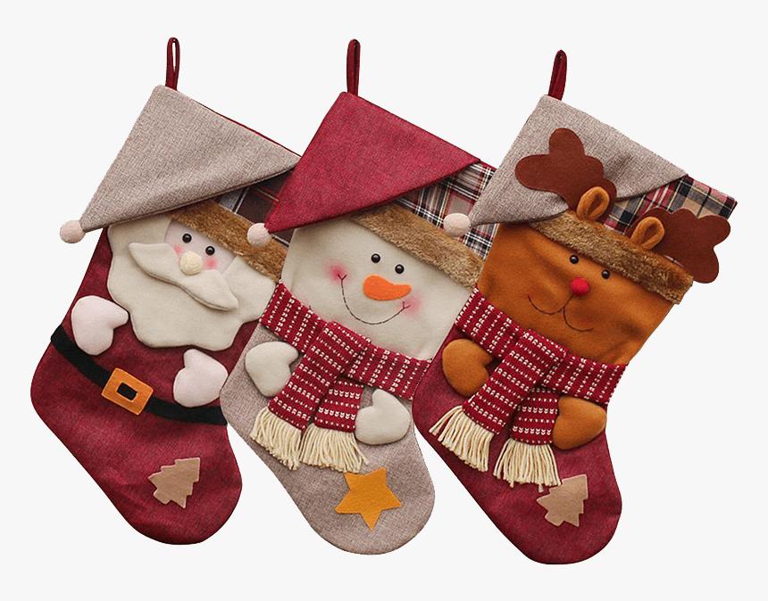 Christmas Stocking Santa 3d, HD Png Download, Free Download