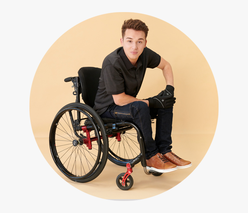 "Men""s Stylish Essentials - Cute Boy In Wheelchair, HD Png Download, Free Download"
