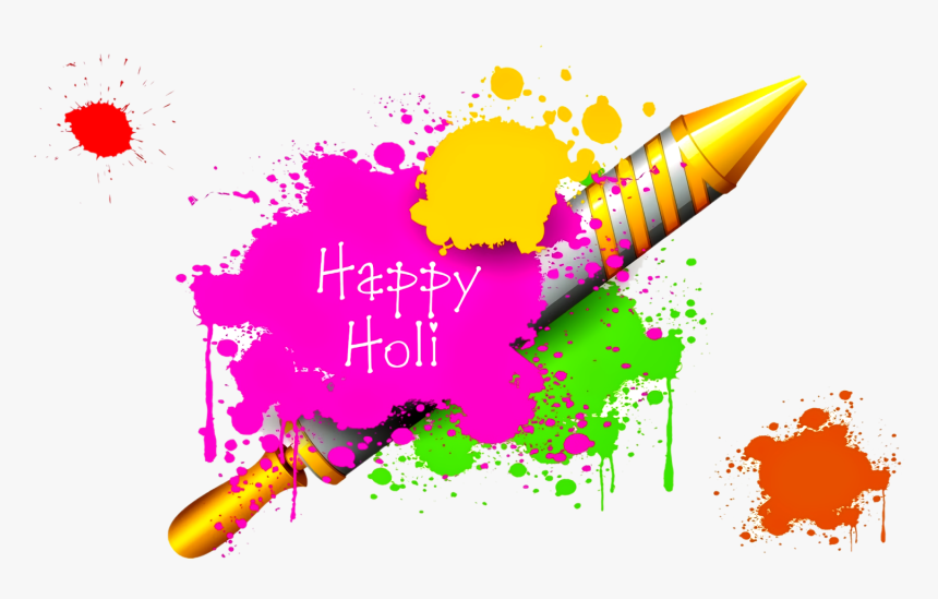 Happy Holi Pichkari Png Images Wallpapers Holi Guns - Happy Holi Images Telugu, Transparent Png, Free Download
