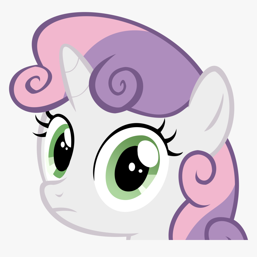 Clip Art Sweetie Belle Stare Know - Sweetie Belle Pony Face, HD Png Download, Free Download