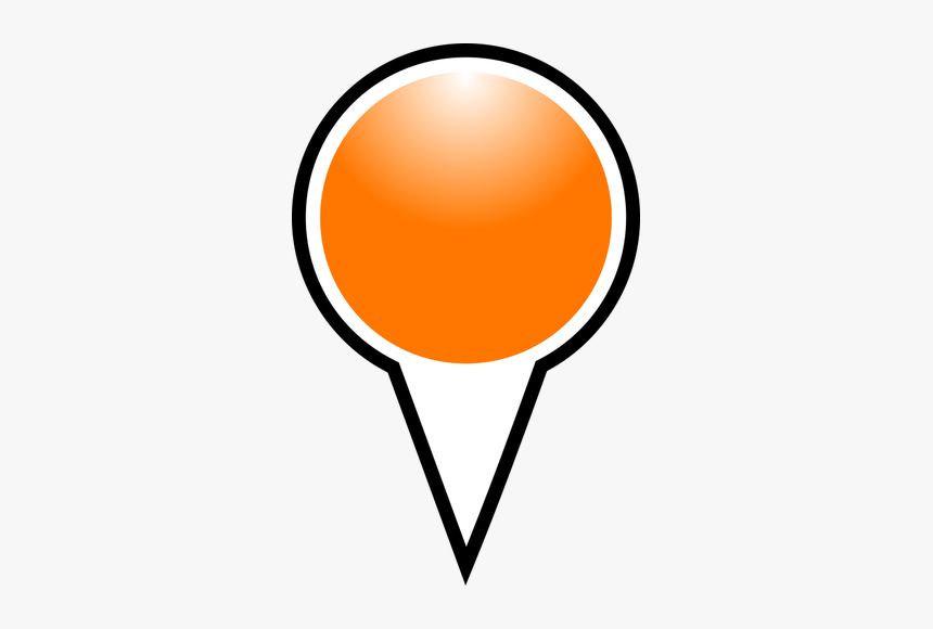 Map Pointer Orange Color Vector Graphics - Google Map Maker Icons, HD Png Download, Free Download