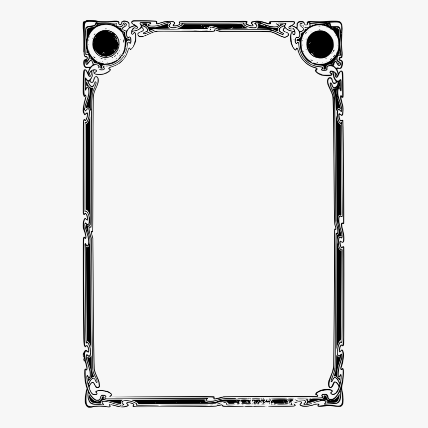 Transparent White Door Png - Frame Png Black And White Simple, Png Download, Free Download
