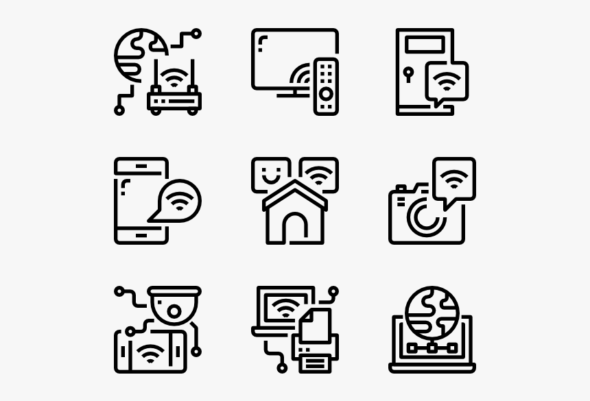 Internet Of Thing - Vector Computer Icon Png, Transparent Png, Free Download