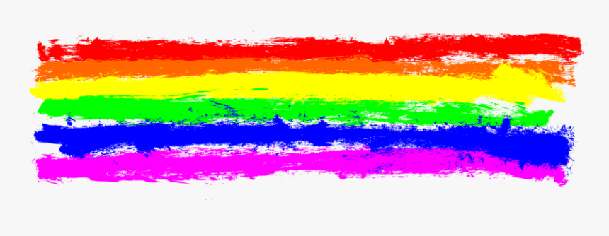 #rainbow #colors #colourful #red #blue #stripe #paint - Transparent Rainbow Paint Splatter, HD Png Download, Free Download