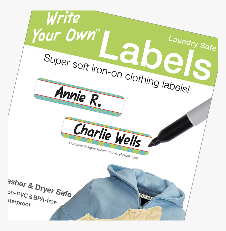 Transparent Blank Sticker Png - Iron On Laundry Labels, Png Download, Free Download