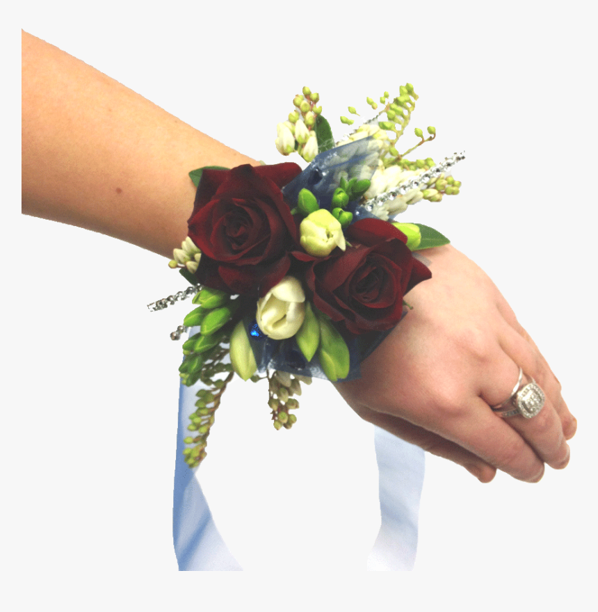 Red Roses Wrist Corsage - Bouquet, HD Png Download, Free Download