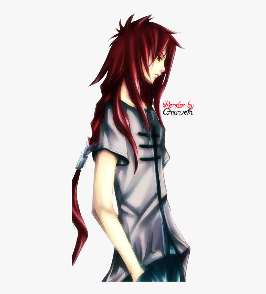Red Hair Anime Guy, Anime Long Hair, Anime Hair, Boys - Anime Guy With Red Hair, HD Png Download, Free Download