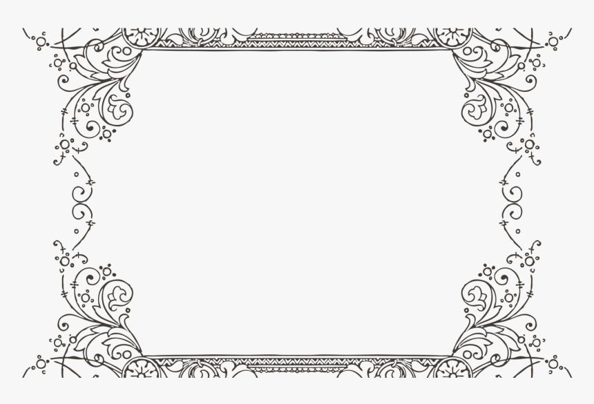 Transparent Decorative Frame Clipart Frames For Google Slides