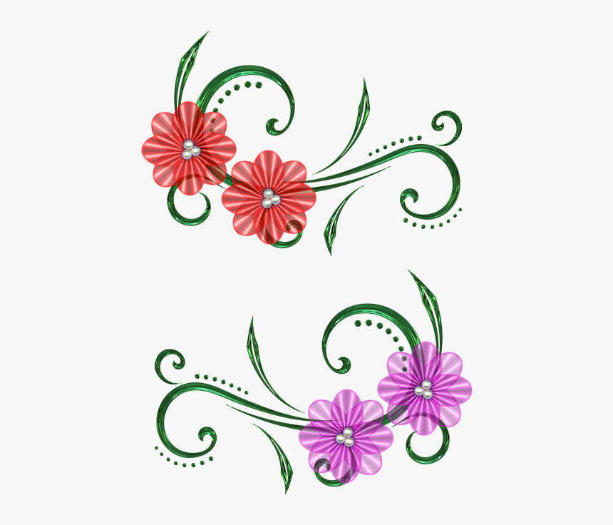 Graphic Design Art Flower Hd 9, Buy Clip Art - Design Draw In Scrap Book, HD Png Download, Free Download