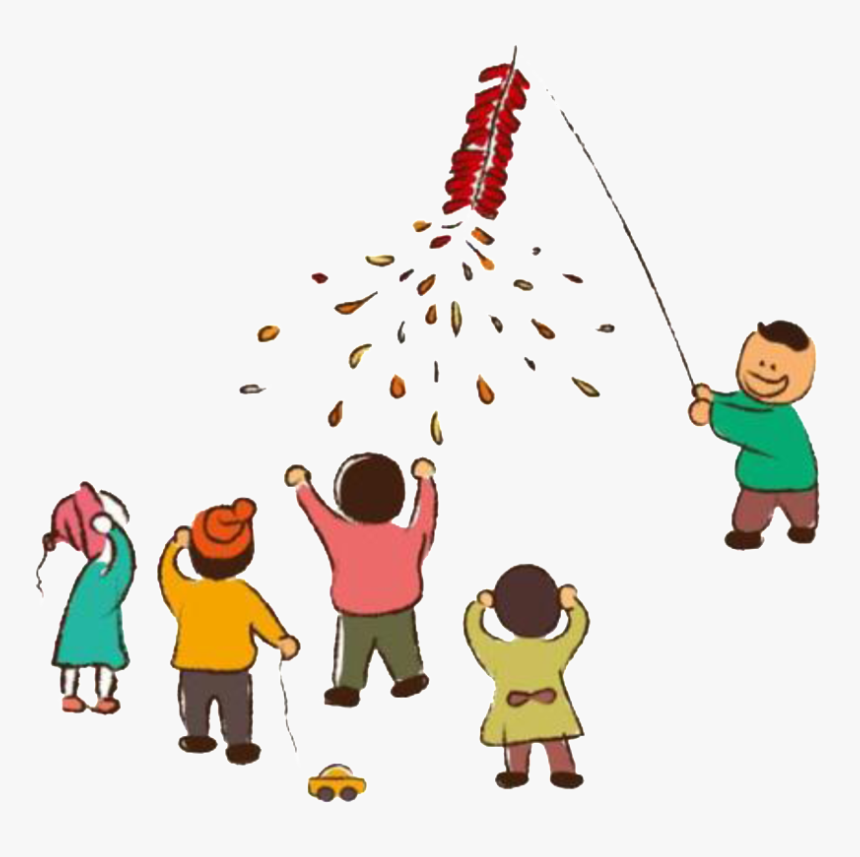 Painted Chinese New Year Firecracker Png - Chinese New Year Firecracker Clipart Free, Transparent Png, Free Download