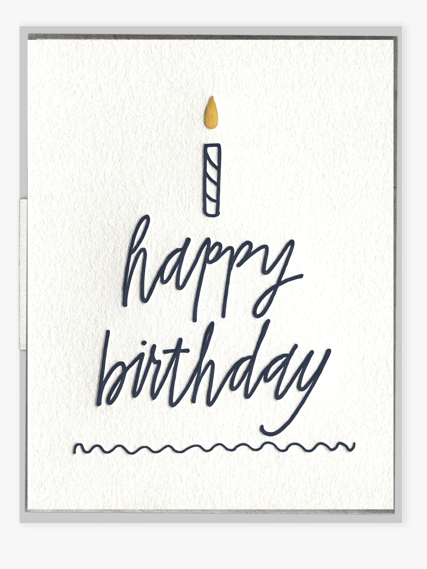 Happy Birthday Cake Letterpress Greeting Card, HD Png Download, Free Download