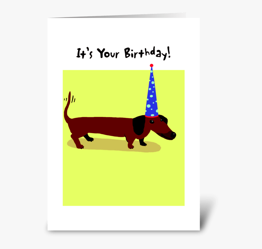 Dachshund Happy Birthday - Greeting Card, HD Png Download, Free Download