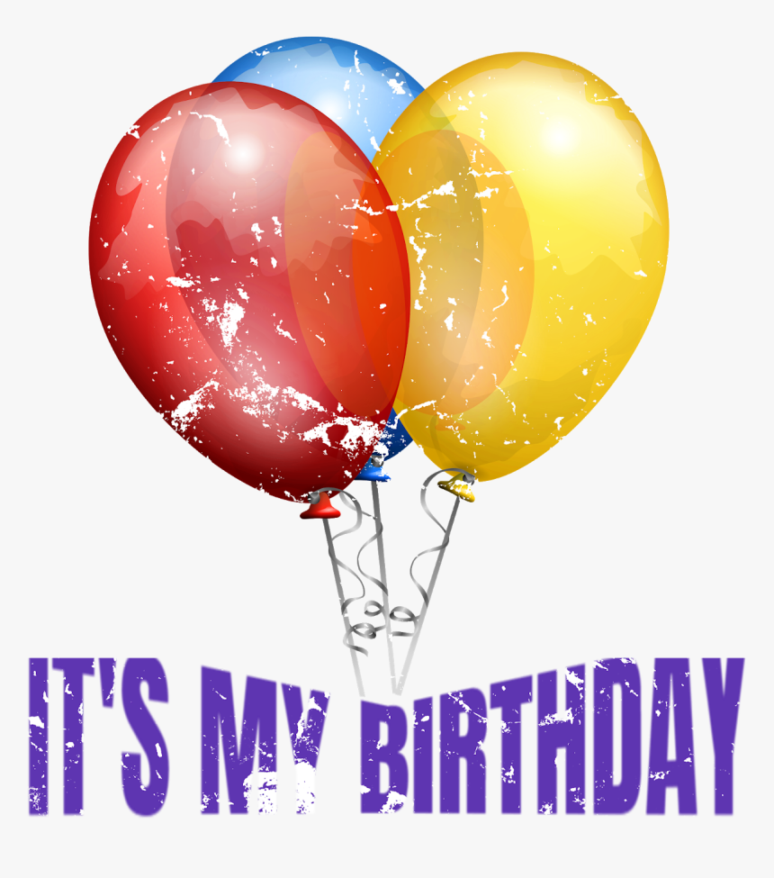 Birthday Tee Shirt Design - Red Gold And Blue Balloons, HD Png Download, Free Download