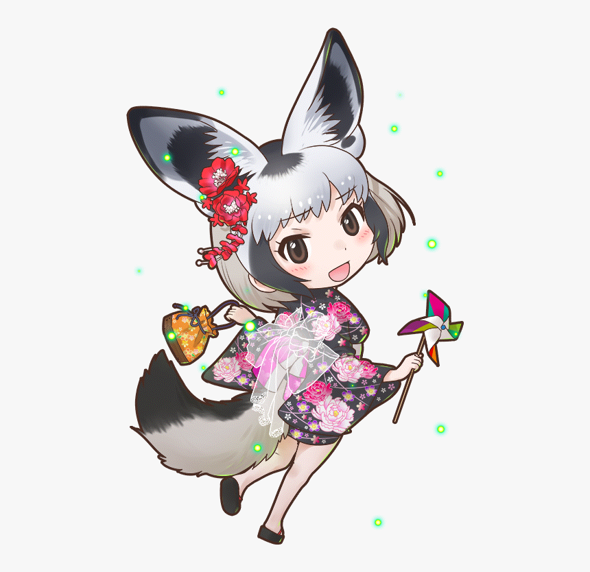 Transparent Fox Ears Png - Kemono Friends Bat Eared Fox, Png Download, Free Download