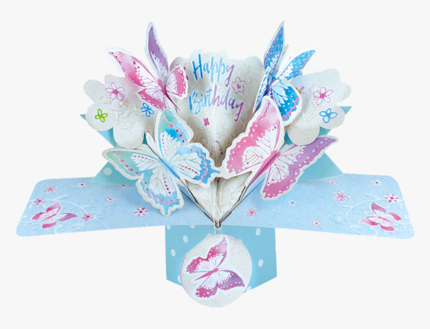Pop Up Butterfly Birthday Card, HD Png Download, Free Download