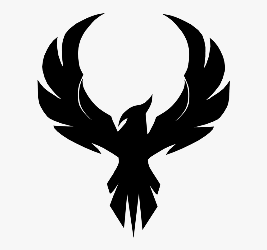 Transparent Phoenix Clipart Phoenix Bird Black And White Hd Png Download Kindpng