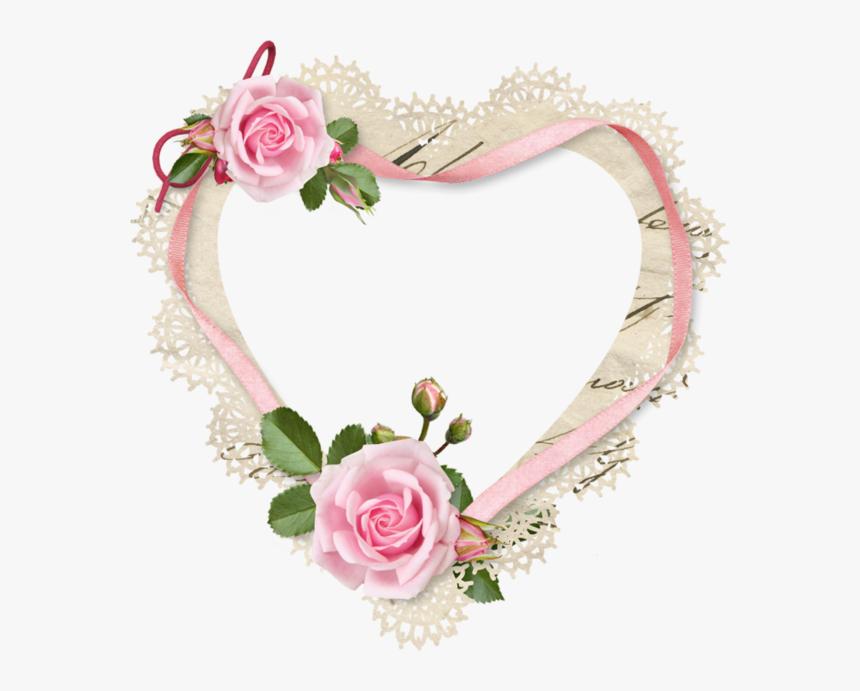 Heart Border, Love Images, Picture Frames, Love Heart, - Border Wedding Frame Png, Transparent Png, Free Download