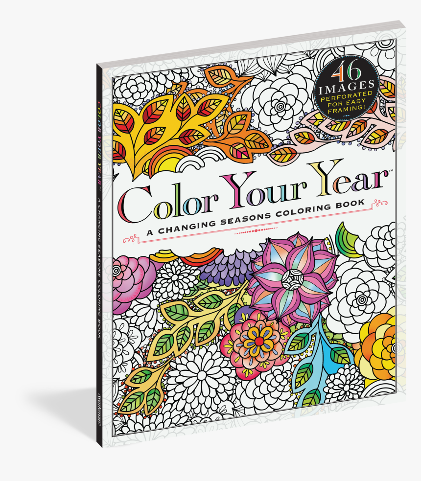Cover - Color Your Year: A Changing Seasons Coloring Book, HD Png Download, Free Download