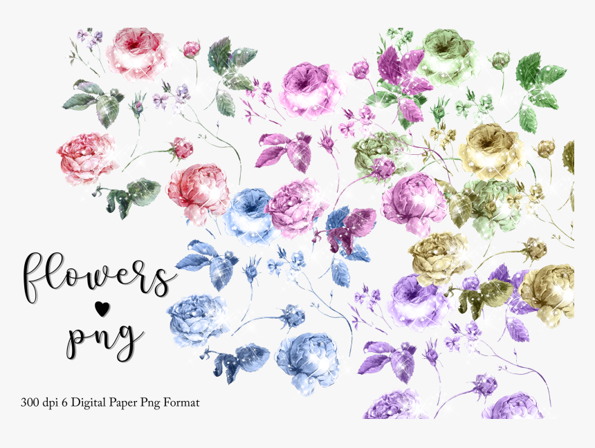 Transparent Rustic Flowers Clipart - Floral Rustic Pattern Png, Png Download, Free Download