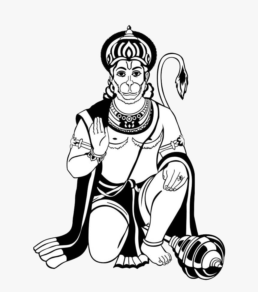 Hanuman Black Png Hanuman Ji Clipart Png Transparent Png Kindpng
