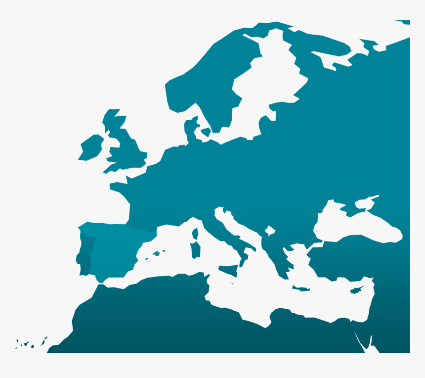 Blank Map Europe Middle East, HD Png Download, Free Download