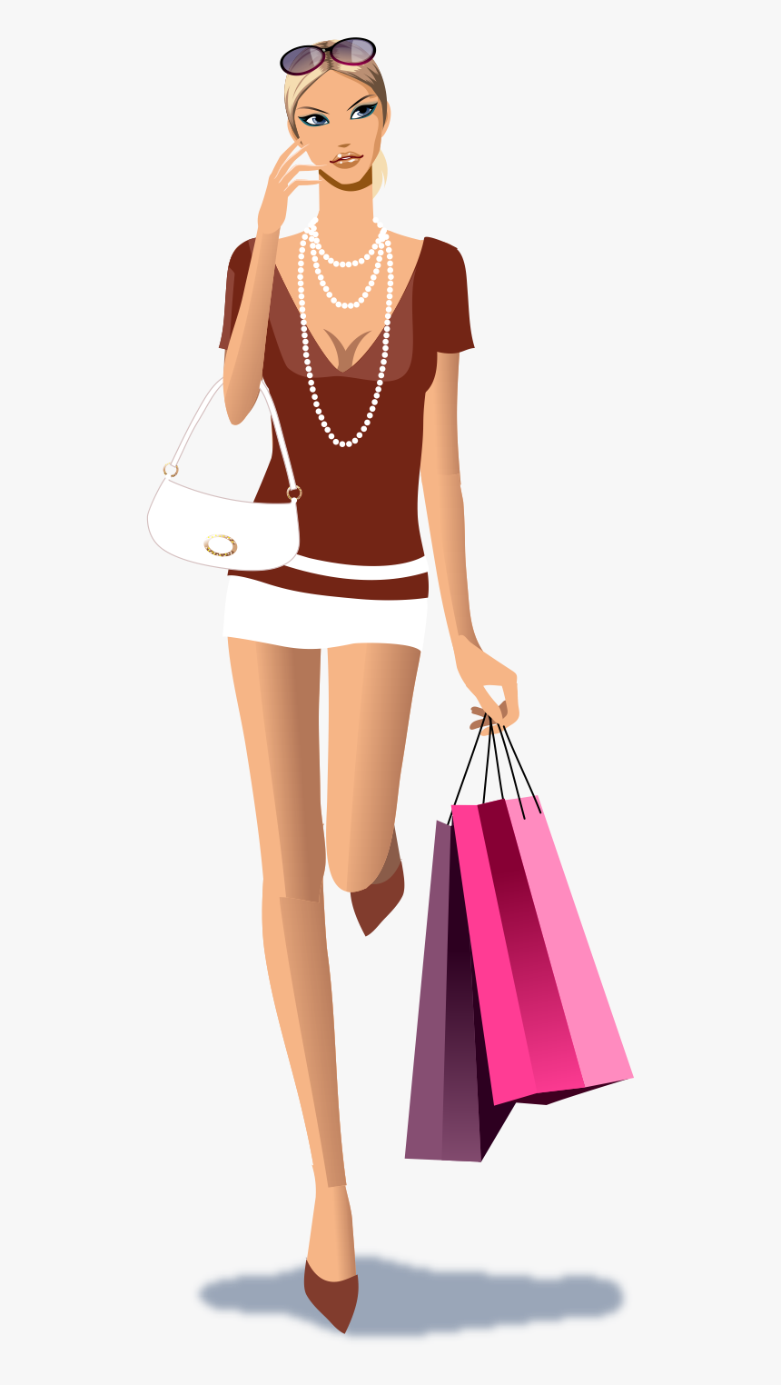 Vector Models Shopping - Fashion Girl Clipart Png, Transparent Png, Free Download