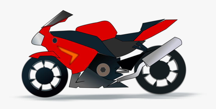Red Motorcycle Clipart, HD Png Download, Free Download