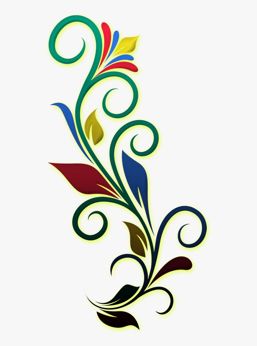 Flower Side Border Design, HD Png Download, Free Download