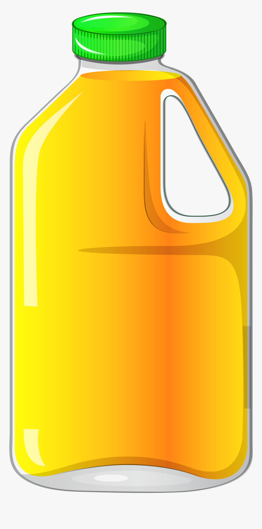 Large Bottle With Orange Juice Clipart Gallery Yopriceville - Juice Bottle Clipart Png, Transparent Png, Free Download